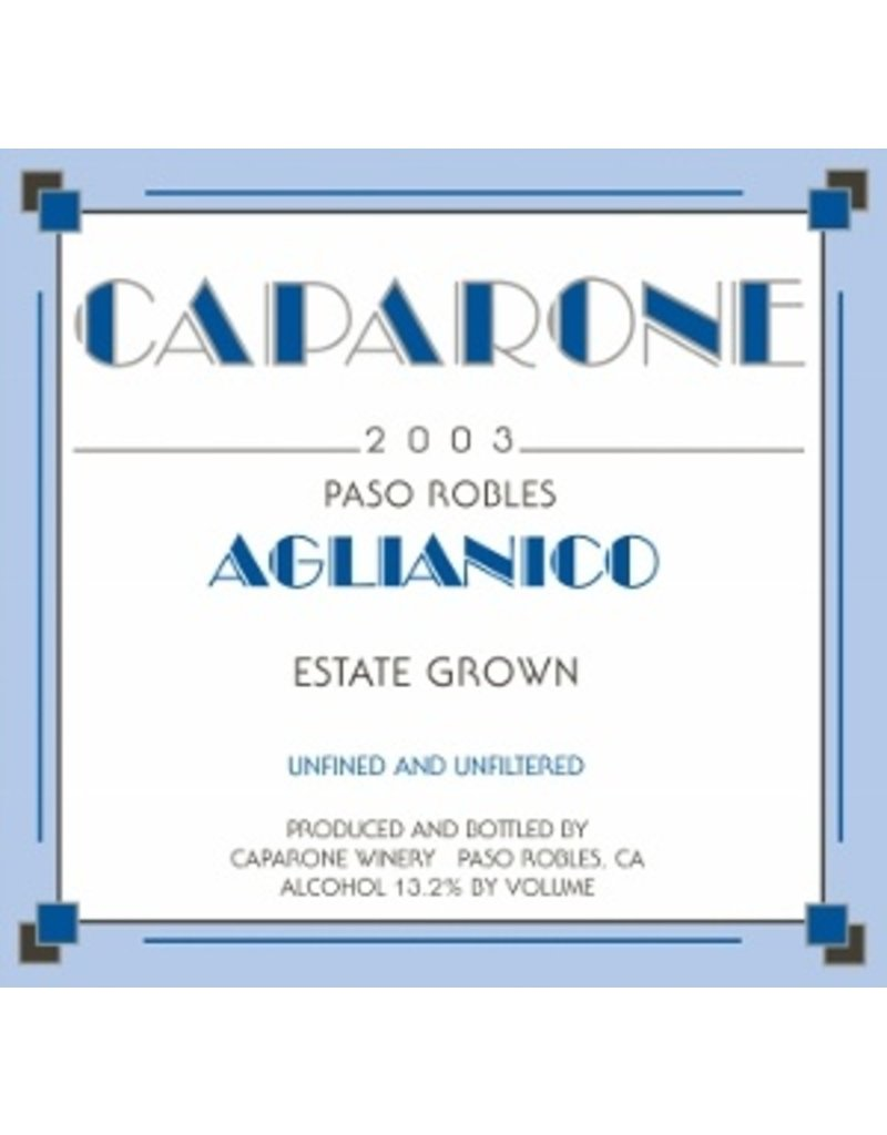 Caparone Aglianico Paso Robles 2017 750ml