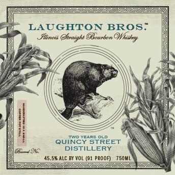 Bourbon Quincy Street Distillery Laughton Bros Straight Bourbon 2 Year 750ml