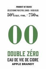 """Cyril Zangs """"Double Zéro"""" Eau de Vie de Cidre Apple Brandy 50% abv 750ml"""