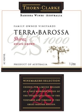 "Australia/New Zealand Wine Thorn Clarke ""Terra Barossa"" Shiraz 2011 One Liter"