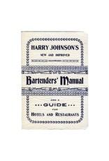 Harry Johnson's Bartender's Manual Book