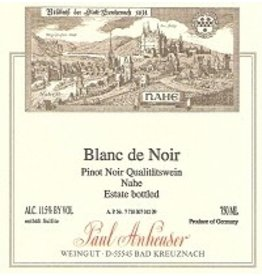 German Wine Paul Anheuser Blanc de Noir Qualitatswein Nahe (Off-Dry) 2017 750ml