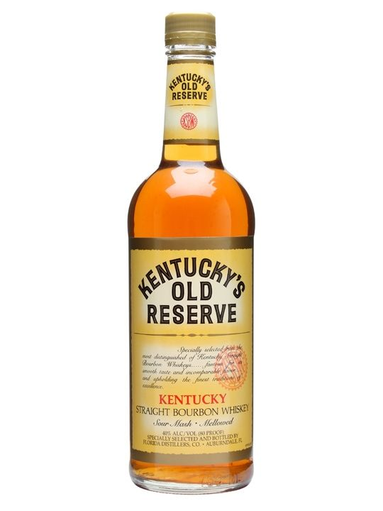 Bourbon Kentucky's Old Reserve Straight Bourbon Whiskey 1 Liter
