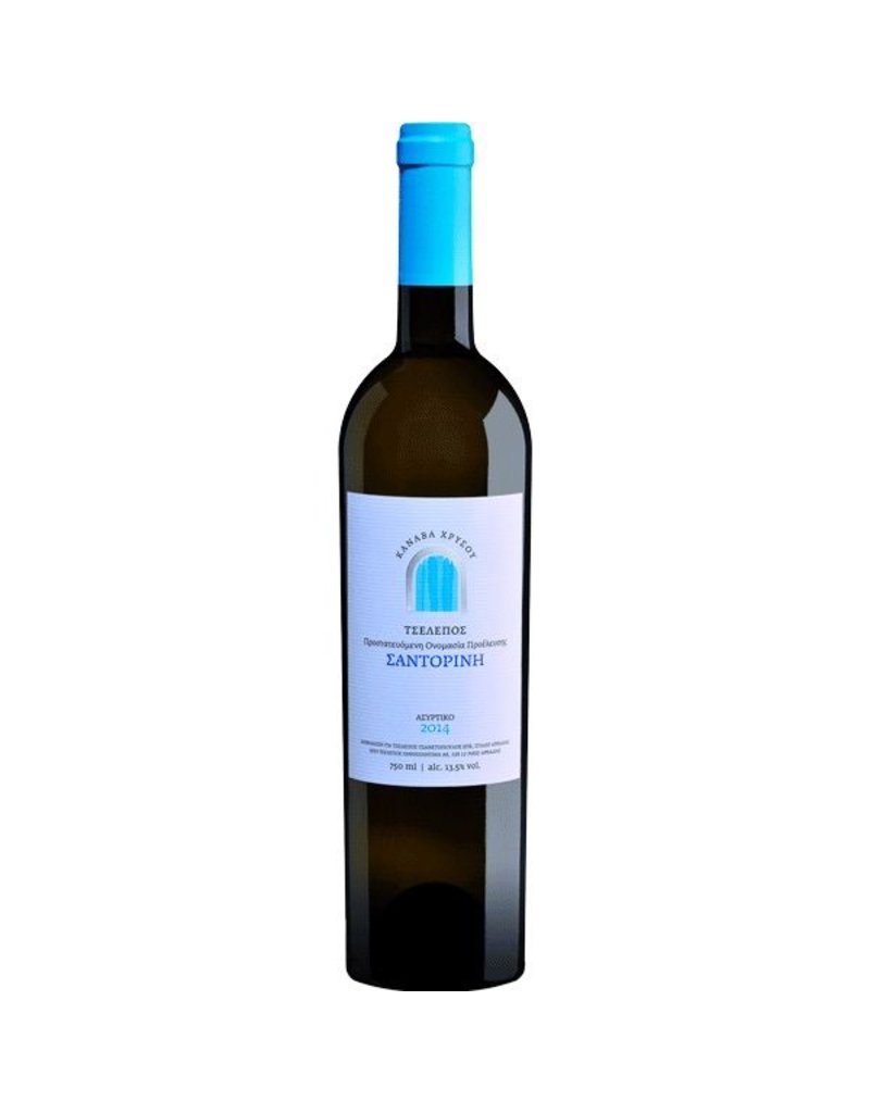 Greek Wine Canava Chrissou Tselepos Santorini Assyrtiko 2016 750ml