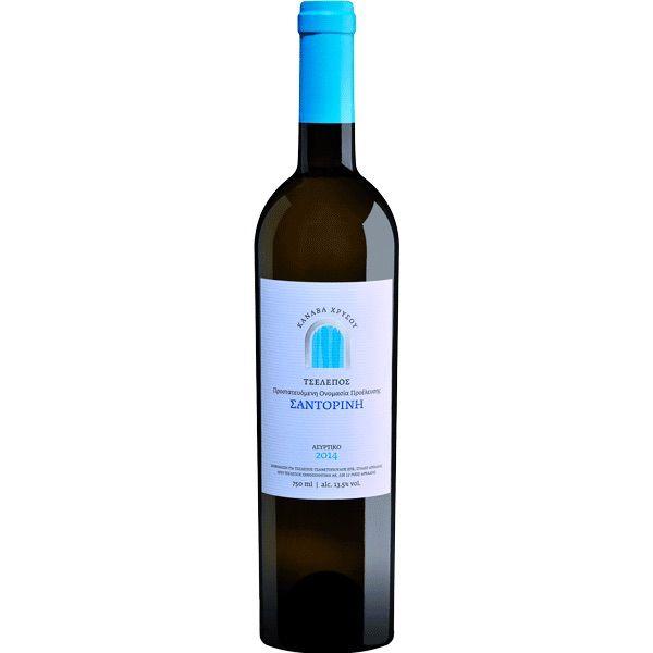 Greek Wine Canava Chrissou Tselepos Santorini Assyrtiko 2016 750ml
