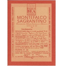 Italian Wine Paolo Bea Sagrantino di Montefalco Pagliaro Vineyard 2011 750ml