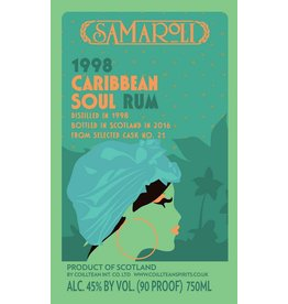 Rum Samaroli Caribbean Soul 1998 Rum, Bottled in 2016 750ml