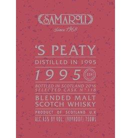 Samaroli 'S Peaty Distilled in 1995 bottled 2016 from Cask No. 118 120 bottles produced 750ml