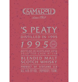 Scotch Samaroli 'S Peaty Distilled in 1995 bottled 2016 from Cask No. 118 120 bottles produced 750ml