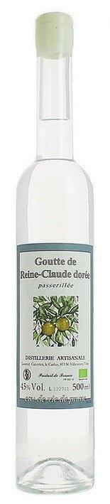 """Brandy Laurent Cazottes Goutte de Reine-Claude Dorée """"Greengage Brandy"""" Eau-de-Vie 375ml"""