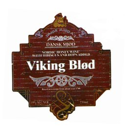 "Mead Dansk Mjod ""Viking Blod"" Nordic Honey Wine with Hibiscus and Hops added 750ml"