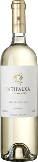 South American Wine Intipalka Sauvignon Blanc Ica Valley Peru 2018 750ml