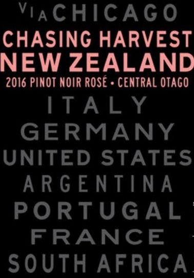 Australia/New Zealand Wine Chasing Harvrest Pinot Noir Rosé Central Otago New Zealand 2016 750ml