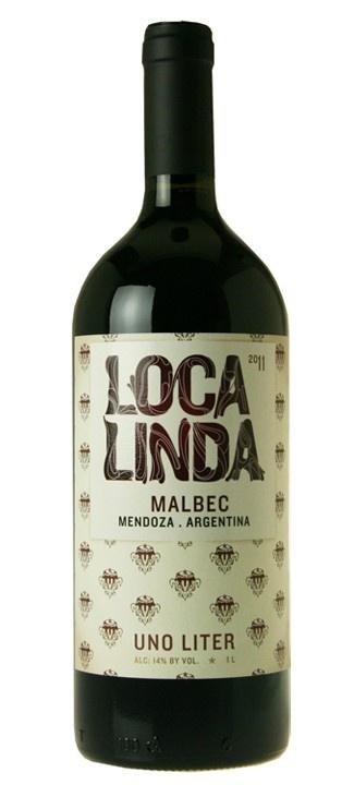 South American Wine Loca Linda Malbec Mendoza Argentina 1L 2017 750ml