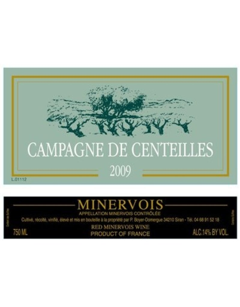 """Clos Centeilles """"Campagne de Centeilles"""" Minervois Rouge 2014 750ml"""