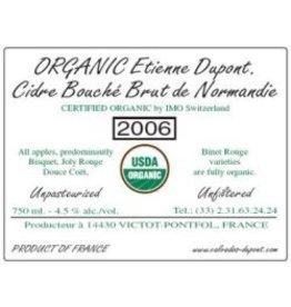 Cider Etienne Dupont Cidre Bouché Brut de Normandie Organic 2016 750ml