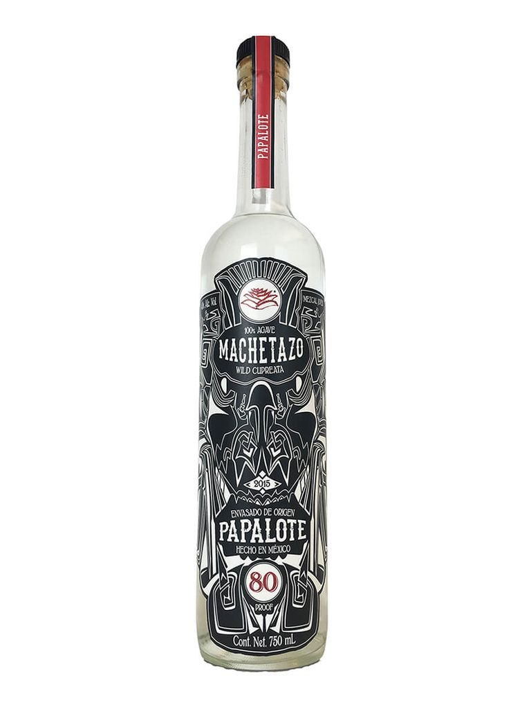 """Tequila/Mezcal Mayalen Machetazo Mezcal """"Joven"""" Cupreata 750ml"""