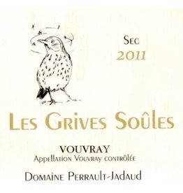 """French Wine Domaine Perrault-Jadaud Vouvray """"Les Grives Soules"""" 2017 750ml"""