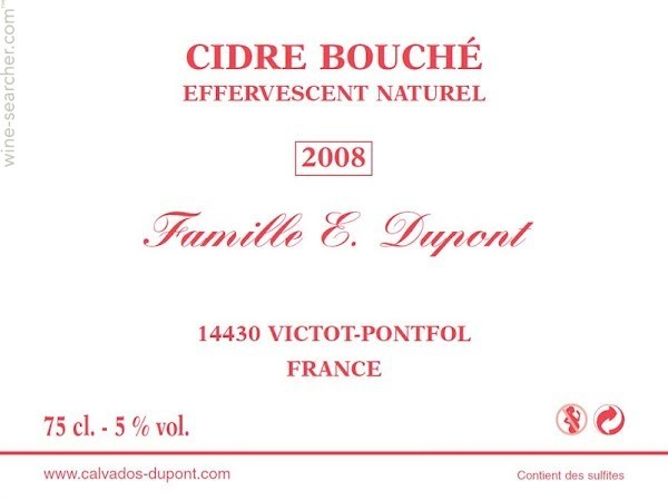 Cider Famille E. Dupont Cidre Bouché Brut 1.5L