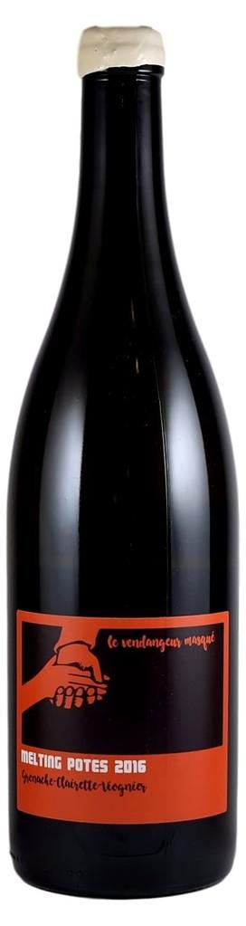 """French Wine De Moor """"Melting Potes"""" Le Vendangeur Masqué Vin de France Grenache Clairette Viognier 2016 750ml"""