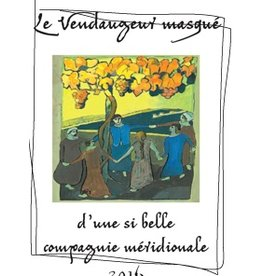 """French Wine De Moor """"Le Vendangeur Masqué"""" """"d' une si belle compagnie méridionale"""" Vin de France 2016 750ml"""