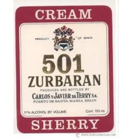 "Sherry Carlos y Javier de Terry  501 ""Zurbaran"" Cream Sherry 750ml"
