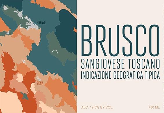 Italian Wine Brusco Sangiovese Toscana 2017 750ml