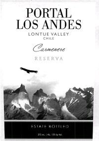 South American Wine Portal los Andes Carmenere Reserva Lontué Valley Chile 2013 750ml