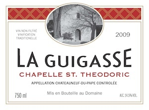 "French Wine Chapelle St. Theodoric Chateauneuf-du-Pape Rouge ""La Guigasse"" 2012 750ml"