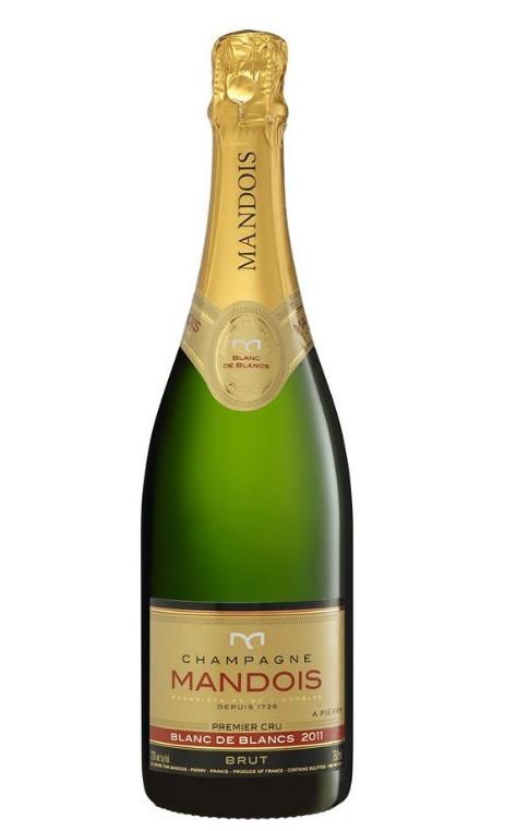 Sparkling Wine Mandois Blanc de Blanc Premier Cru Brut Champagne 2011 750ml