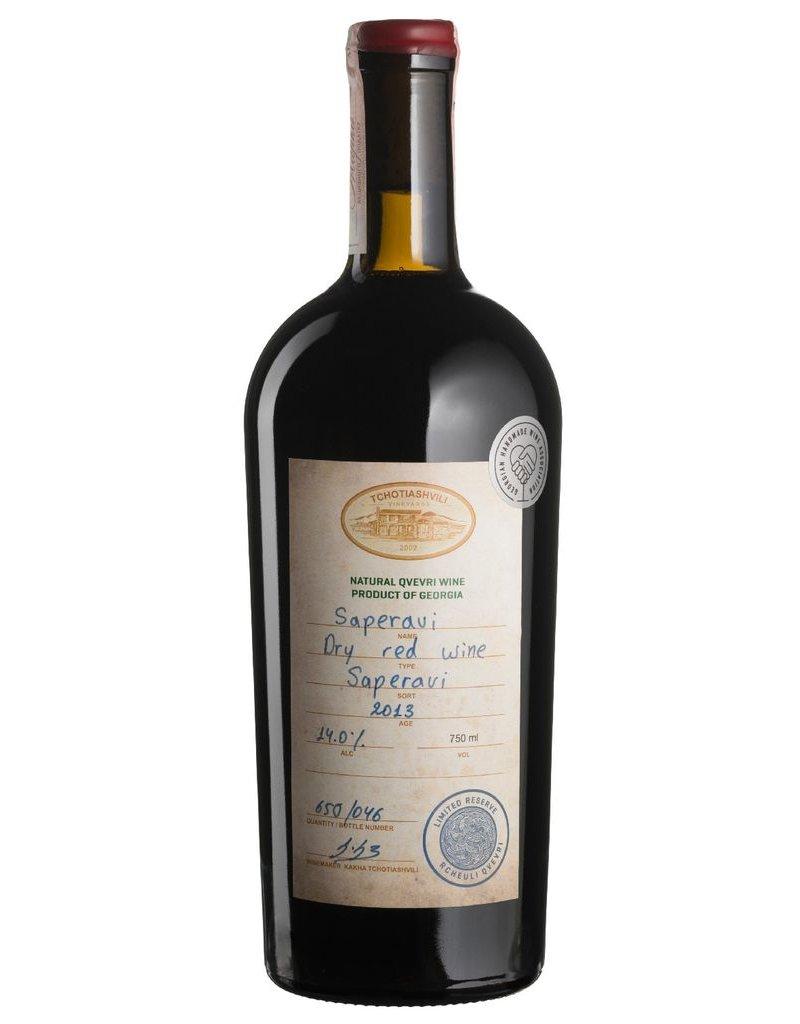 "Tchotiashvili Saperavi ""Limited Reserve"" Dry Red Wine Kakheti Georgia 2014 750ml"