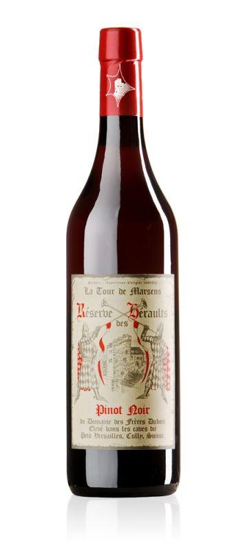 """Swiss Wine Domaine des Fréres Dubois """"La Tour de Marsens"""" Pinot Noir """"Reserve des Heraults"""" Lavaux Switzerland 2016 750ml"""