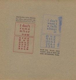 John Bender - I Don't Remember Now LP