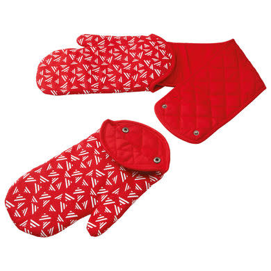 Kuhn Rikon double Oven Mitt Red