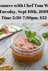 Italian Sauces Cooking Class 9/10/2019