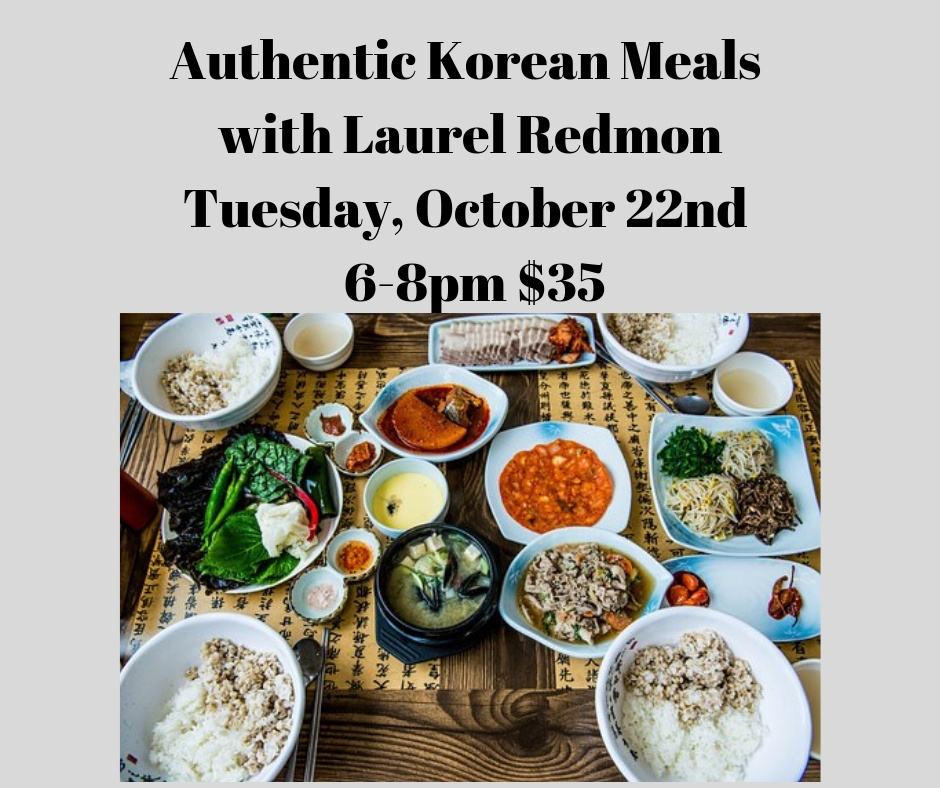 Authentic Korean Cooking Class 10-22