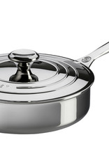Le Creuset 4.5 Qt Stainless Steel Saute Pan w/cover