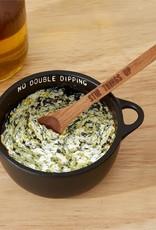 Twos Co Ceramic Bowl w/Wooden Spoon