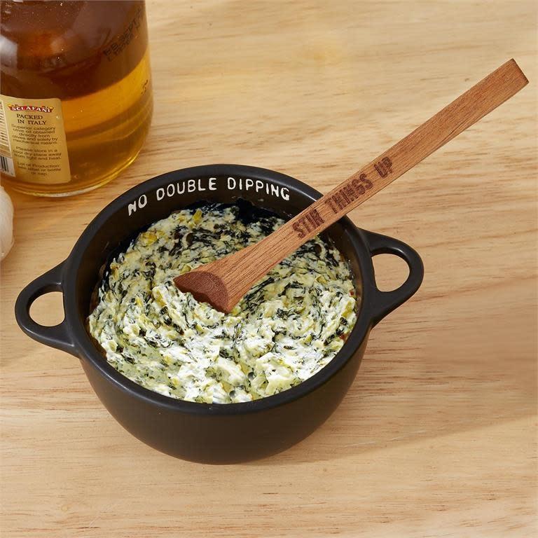 Twos Co Ceramic Bowl w/Wooden Spoon (Shoptiques)