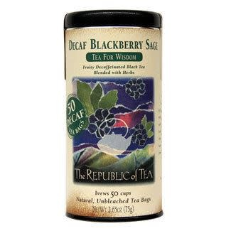 Republic of Tea Blackberry Sage Decaf bags