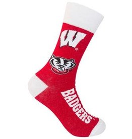 Funatic WI Badgers Socks