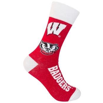 Funatic WI Badgers Socks