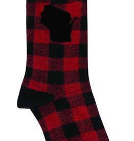 Funatic WI Plaid Socks