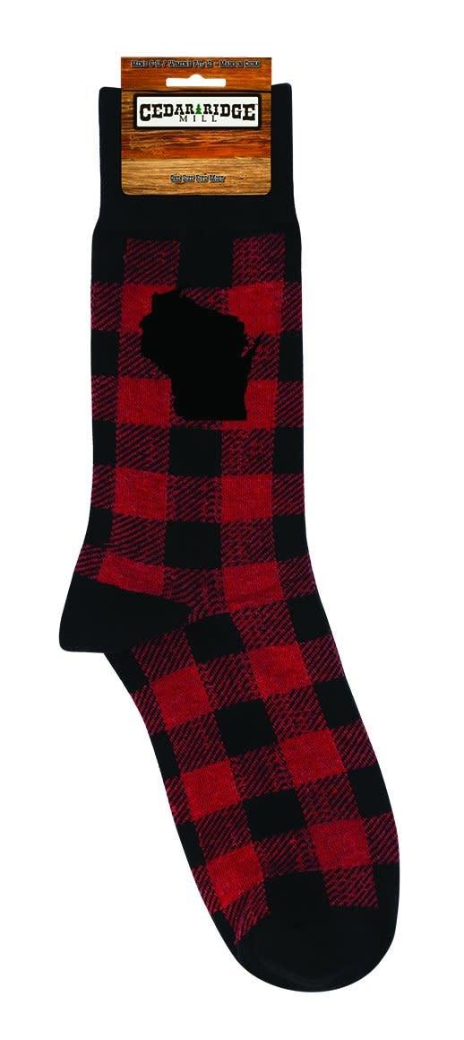Funatic WI Plaid Socks