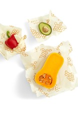Bees Wrap Assorted 3 Pack (S, M, L) Yellow Honeycomb