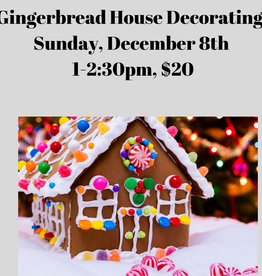 Gingerbread Houses Cooking Class 12/8/19
