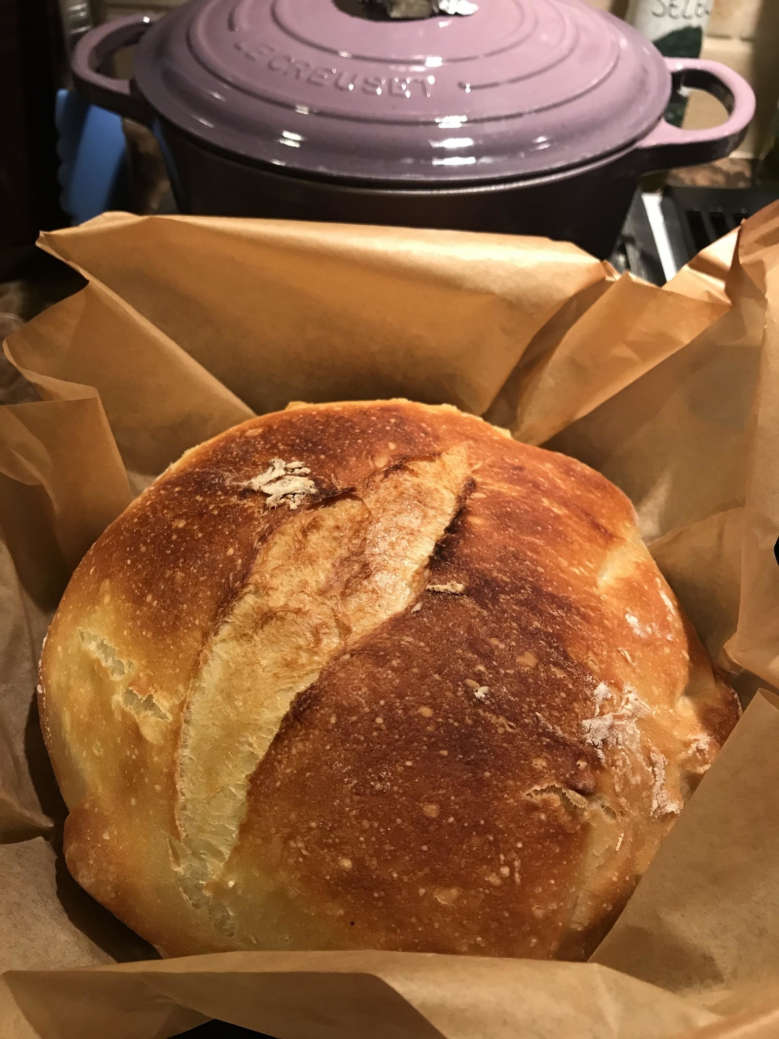 Almost No Knead Bread from Bekah Kate's
