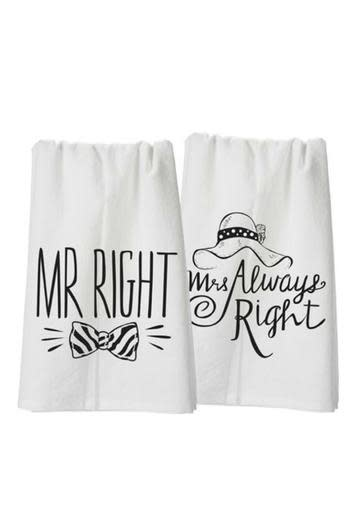 Primitives Tea Towel Mr & Mrs