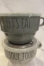 Boston WH 22oz Stack Souper Mug w/lid Let's Eat