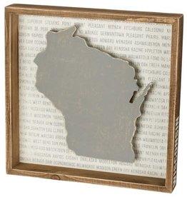Primitives Reverse Box Sign--Wisconsin